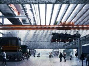 Wiszące lokomotywy, objazd minikolejką. Ambitne plany budowy muzeum