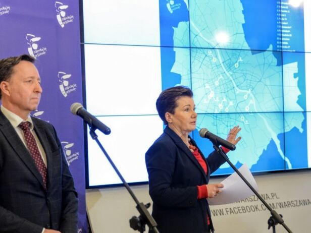 """Konferencja władz miasta w sprawie """"śpiochów"""" UM Warszawa"""