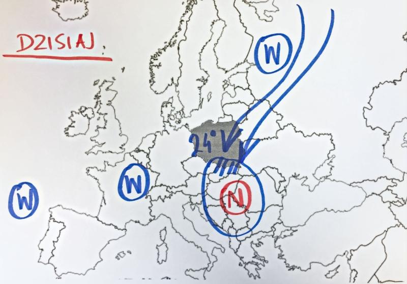Sytuacja baryczna nad Europą w czwartek