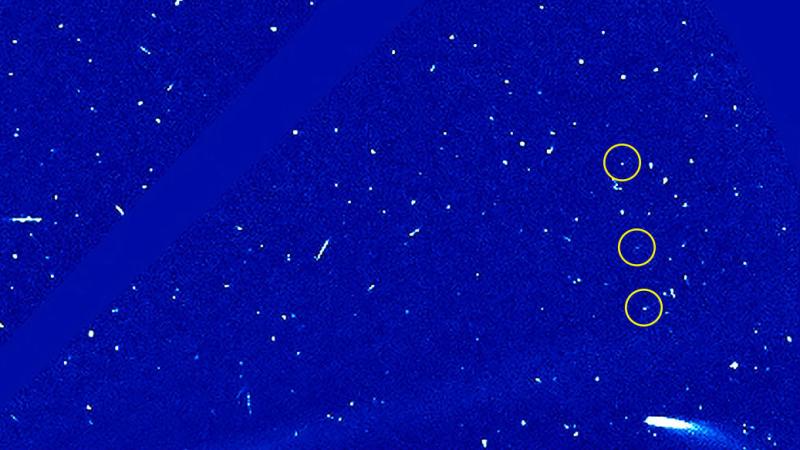Fotografia programu SOHO. Kometa 96P w pa∂zierniku
