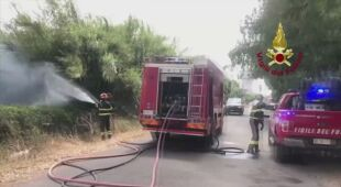 Strażacy walczą z pożarami na Sardynii