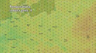Rozkład temperatury w najbliższych dniach (ventusky.com)